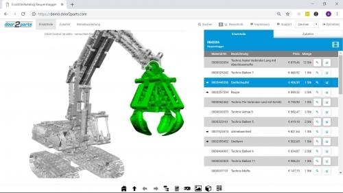 3D spare parts catalog