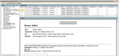 Archiv.Net: E-Mail-Archivierung