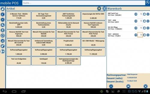 POS Kassensystem App für den Direktvertrieb