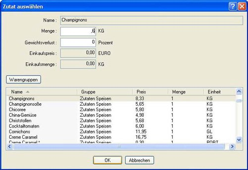 4. Produktbild GastroCalc - Gastromiesoftware