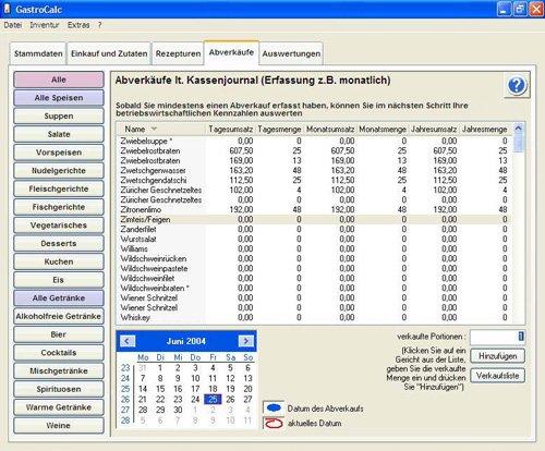 6. Produktbild GastroCalc - Gastromiesoftware