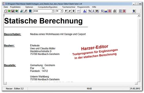 Harzer Editor