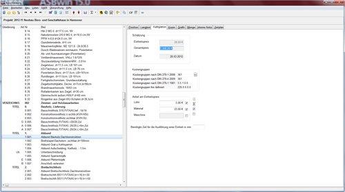 6. Produktbild HEITKER  AVA  ASBwin - Ausschreibungssoftware