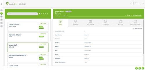 1. Produktbild simplyOrg - Software zur Organisation von Seminaren