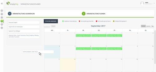 4. Produktbild simplyOrg - Software zur Organisation von Seminaren