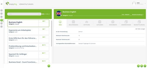 5. Produktbild simplyOrg - Software zur Organisation von Seminaren