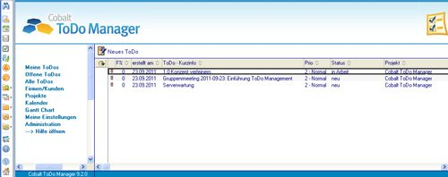 1. Produktbild Cobalt ToDo Manager für Lotus Notes & Domino