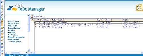 1. Produktbild Cobalt ToDo Manager für Lotus Notes & Domino