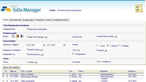 2. Produktbild Cobalt ToDo Manager für Lotus Notes & Domino