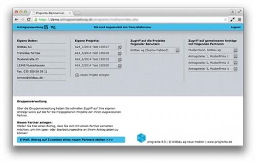 Portalfunktion und Gruppenverwaltung