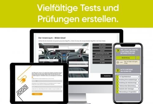 Professionelle Tests und Prüfungen.