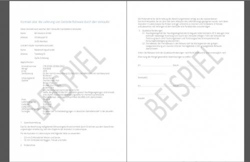Beispiel Kontrakt Dokument
