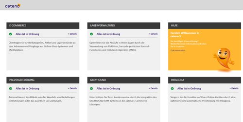 2. Produktbild cateno Warenwirtschaftssystem - E-Commerce-Komplettlösung