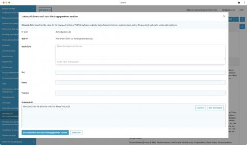 Verträge online unterzeichnen (z.B. Auftragsverarbeitungsverträge, Einwilligungserklärungen)