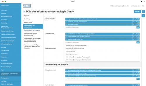 Technisch-organisatorische Maßnahmen mit Textbausteinen schnell und einfach verwalten