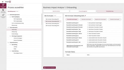 Business Continuity: Business Impact Analyse