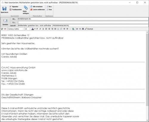E-Mail Anbindung