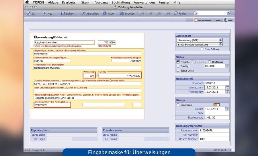 1. Produktbild TOPIX:8 Zahlungsverkehr und Banking