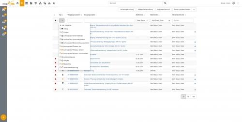 Aufgabenliste im sycat-IMS-Portal