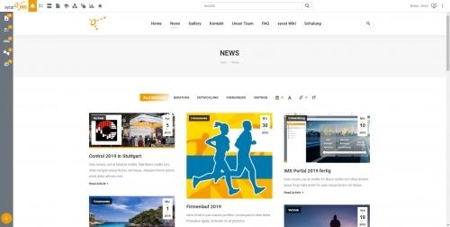 Startseite: Newsblog im sycat IMS Portal