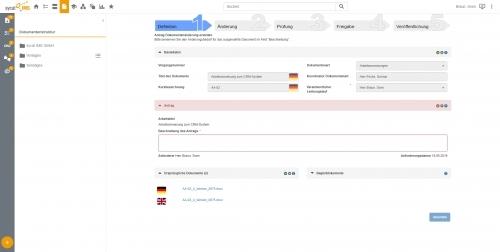 Freigabe-Workflow im sycat-IMS-Portal