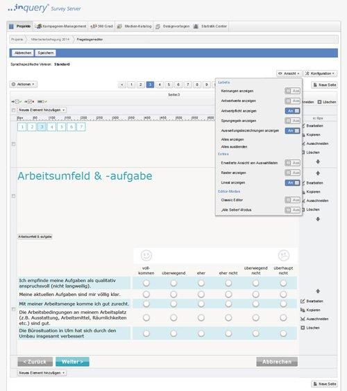 2. Produktbild Inquery Survey Server - Software für betriebliche Befragungen