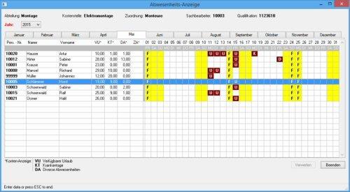 5. Produktbild: BMTS Zeitwirtschaft (BZW)