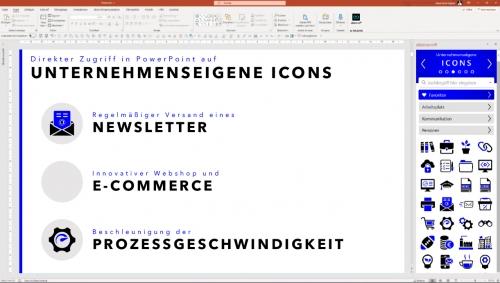 Unternehmenseigene Icons