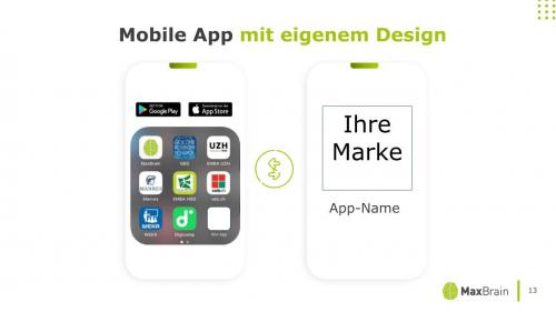 Mobile App / mit eigenem Design