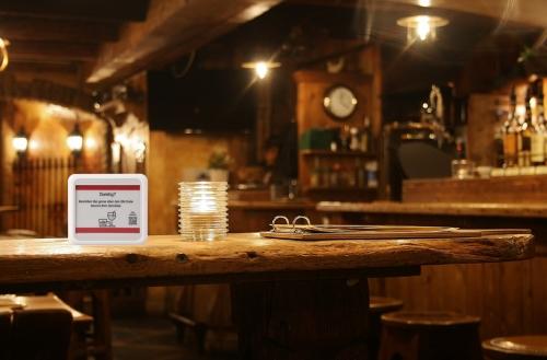 Digitale Getränkekarte im Restaurant