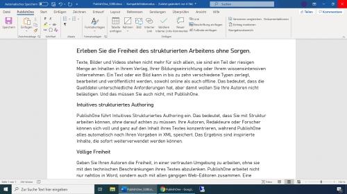 PublishOne - Editor Microsoft Word