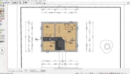 Automatische Bemaßung und Flächenberechnung