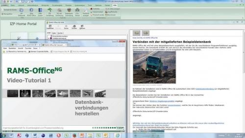RAMS-OfficeNG Hilfe- und Tutorialfunktionen