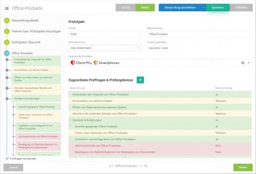 Assistent zur Schwachstellenanalyse (hier mit BSI IT-Grundschutz Kompendium)