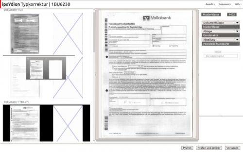 Digitaler Posteingang Typkorrektur