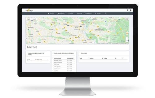 Dashboard Web Anwendung