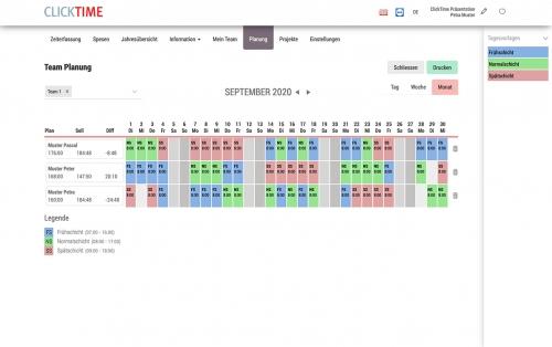 Teamplanung Monat