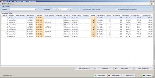 Kundenstammdaten - >Fakturierung