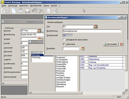 ProSeS Wartung - effektive Werkzeugwartung & Maschinenwartung