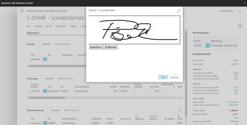 BSS service pro - digitale Unterschrift