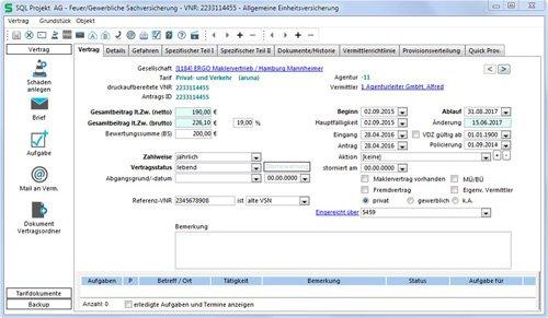 3. Produktbild SALIA® - Verwaltungsprogramm für Versicherungsmakler und Finanzdienstleister
