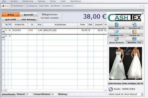 CASHTEX GO MODERN für Braut-Einzelhandel