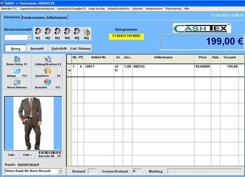 1. Produktbild CASHTEX Kassensystem für Einzelhandel
