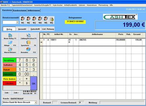 2. Produktbild  CASHTEX Kassensystem für Einzelhandel
