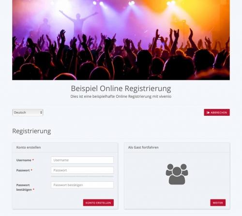 Online Registrierung