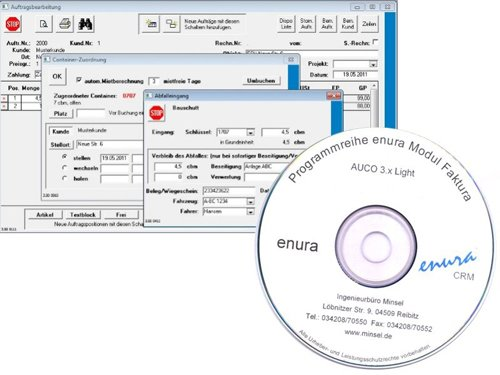 1. Produktbild enura AUCO Light - Auftragsbearbeitung für Containerdienste