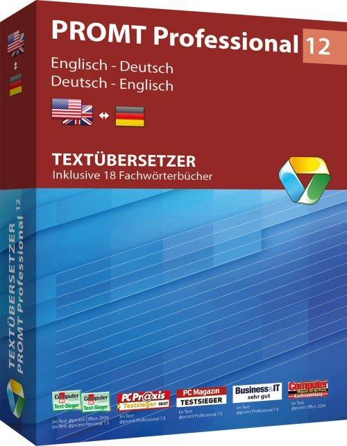 1. Produktbild PROMT Professional 12 Englisch-Deutsch