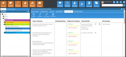 Checkliste Auditmanagement inkl. Abweichung und Maßnahmenerfassung (+)