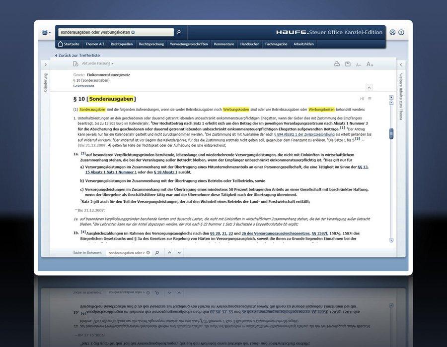 4. Produktbild Haufe Steuer Office Kanzlei-Edition