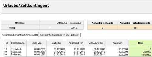 """5. Produktbild Zeitwirtschaft für Lotus Notes SAP HR """"Out of Office"""""""